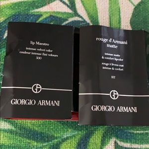 Giorgio Armani lip maestro and rouge d'Armani mate